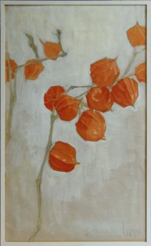 Landschaftsmalerei, en plein air, Freilichtmalerei, Lampion, orange, Öl auf Leinwand, Tanja Leodolter, Künstlerin