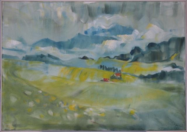 Landschaftsmalerei, en plein air, Freilichtmalerei, Allgäu, Öl auf Leinwand, Tanja Leodolter, Künstlerin