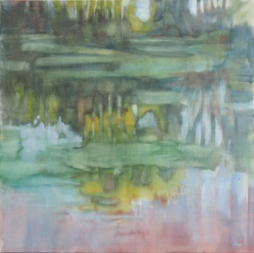 Landschaftsmalerei, en plein air, Freilichtmalerei, Wasser, Öl auf Leinwand, Tanja Leodolter, Künstlerin