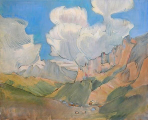 Landschaftsmalerei, en plein air, Freilichtmalerei, Hautes Alpes, Berglandschaft, Öl auf Leinwand, Tanja Leodolter, Künstlerin