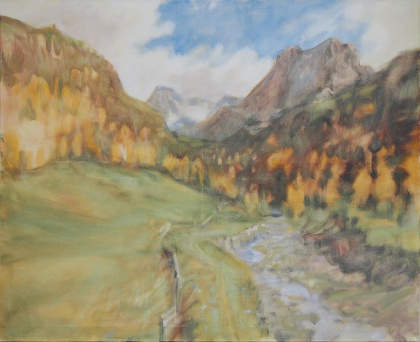 Landschaftsmalerei, en plein air, Freilichtmalerei, Ötztal, Öl auf Leinwand, Tanja Leodolter, Künstlerin