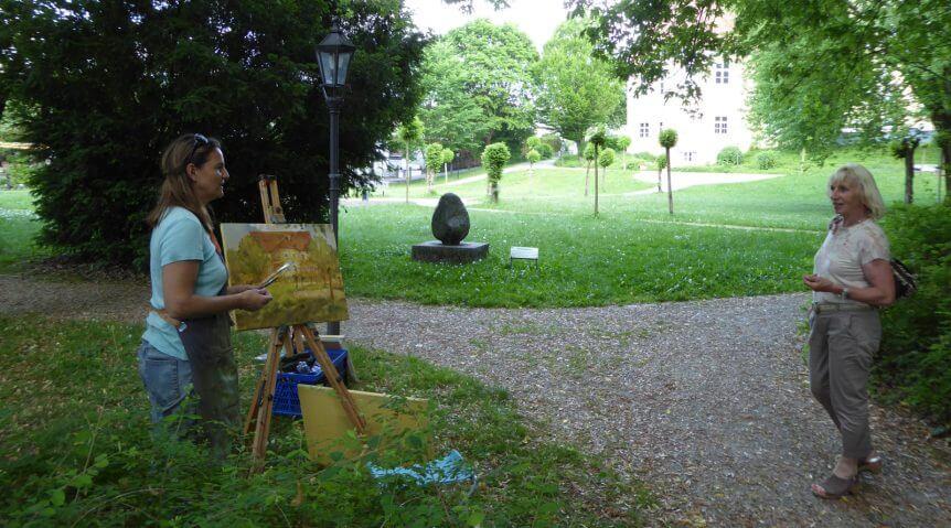 Kunstverein Bobingen, Über die Schulter schauen bei Tanja Leodolter